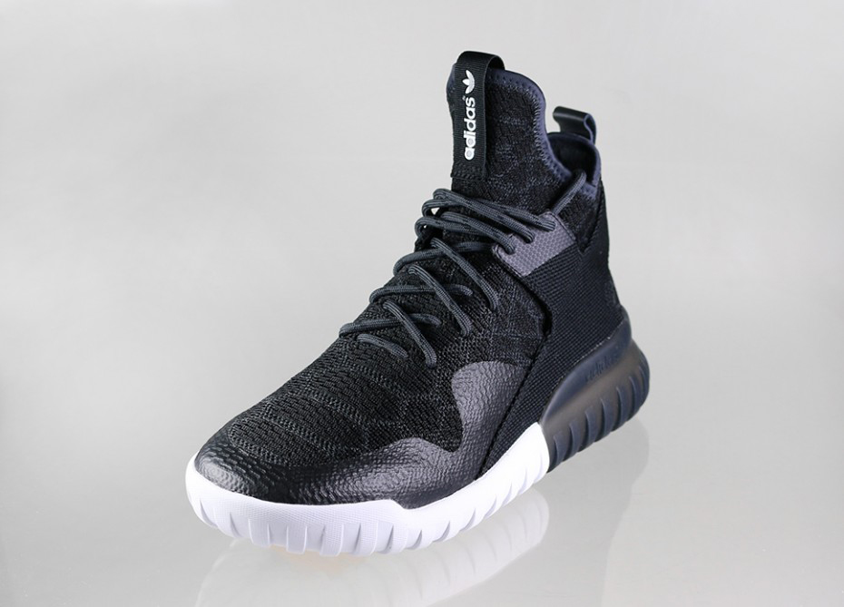 Adidas Tubular Nova PK Primeknit Black / white Men 's Running Shoes