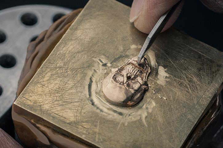 BR01 Skull Bronze Tourbillon