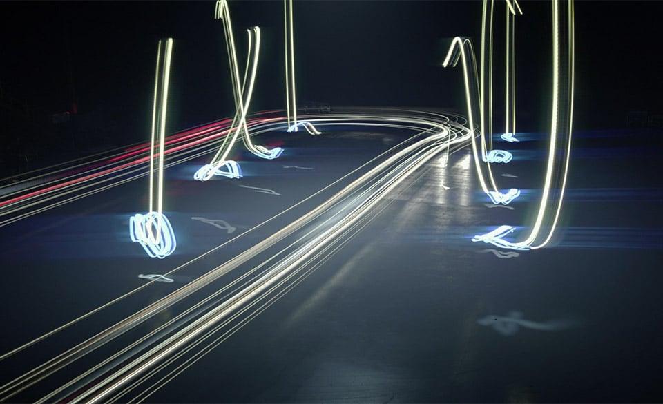 Drone vs. Car Light Painting