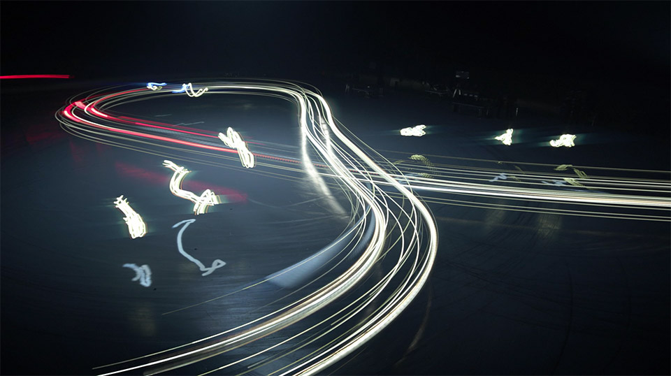Drone vs. Car Light Painting