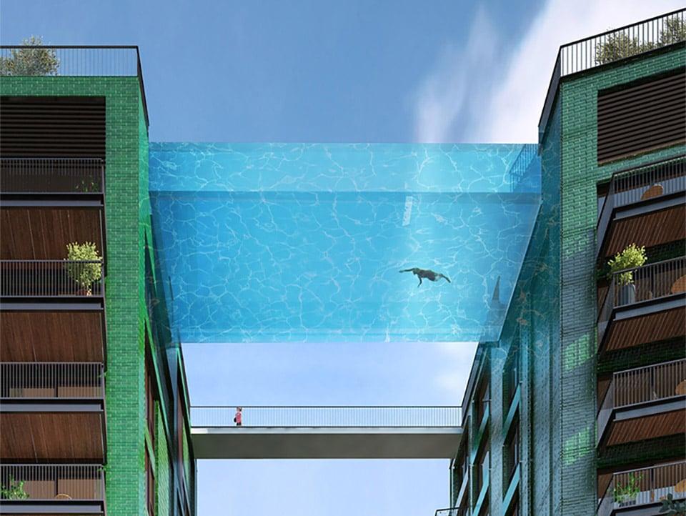Glass-Bottomed Pool Bridge