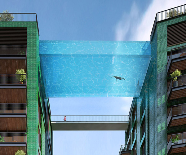 Glass bottomed pool bridge - Glass bottom pool ...