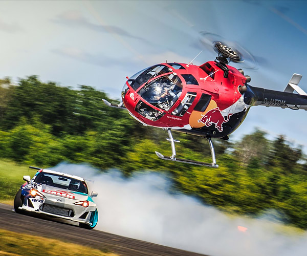 Helicopter vs. Drift Car
