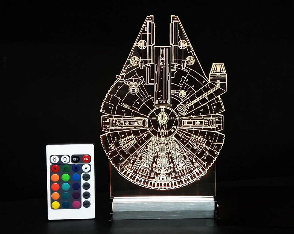 Millennium Falcon & AT-AT Lamps