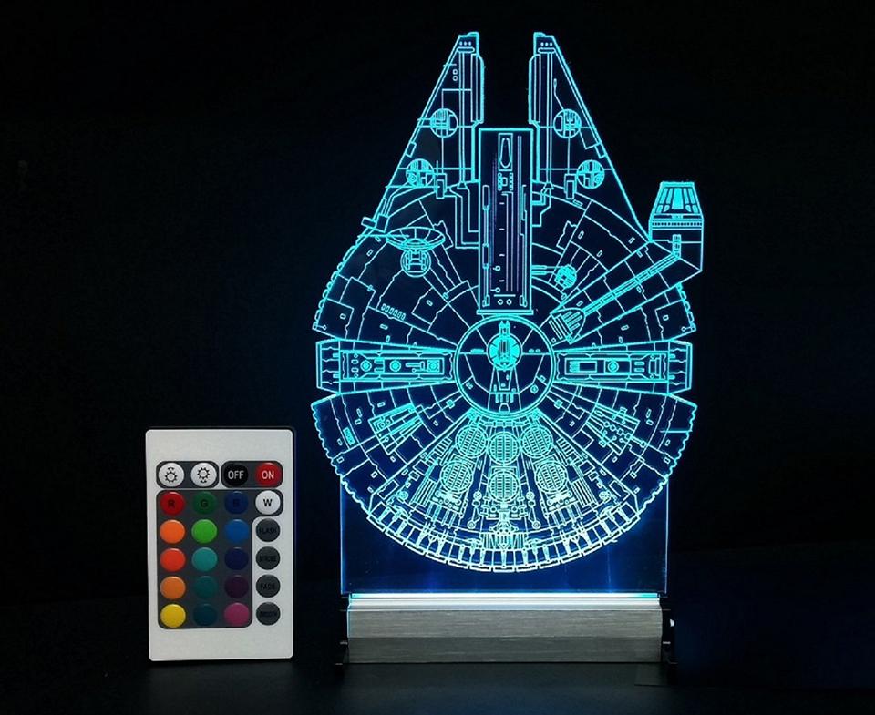 Millennium Falcon & AT-AT Lamps