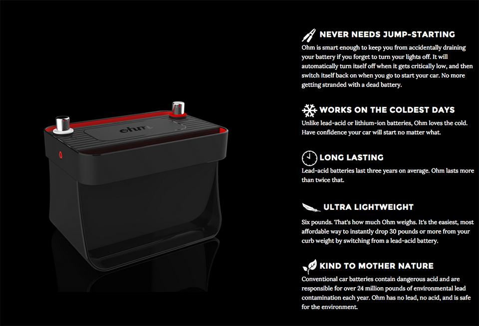 Ohm Car Battery