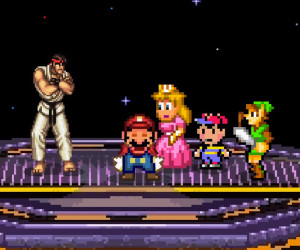 Smash Bros Invade Street Fighter