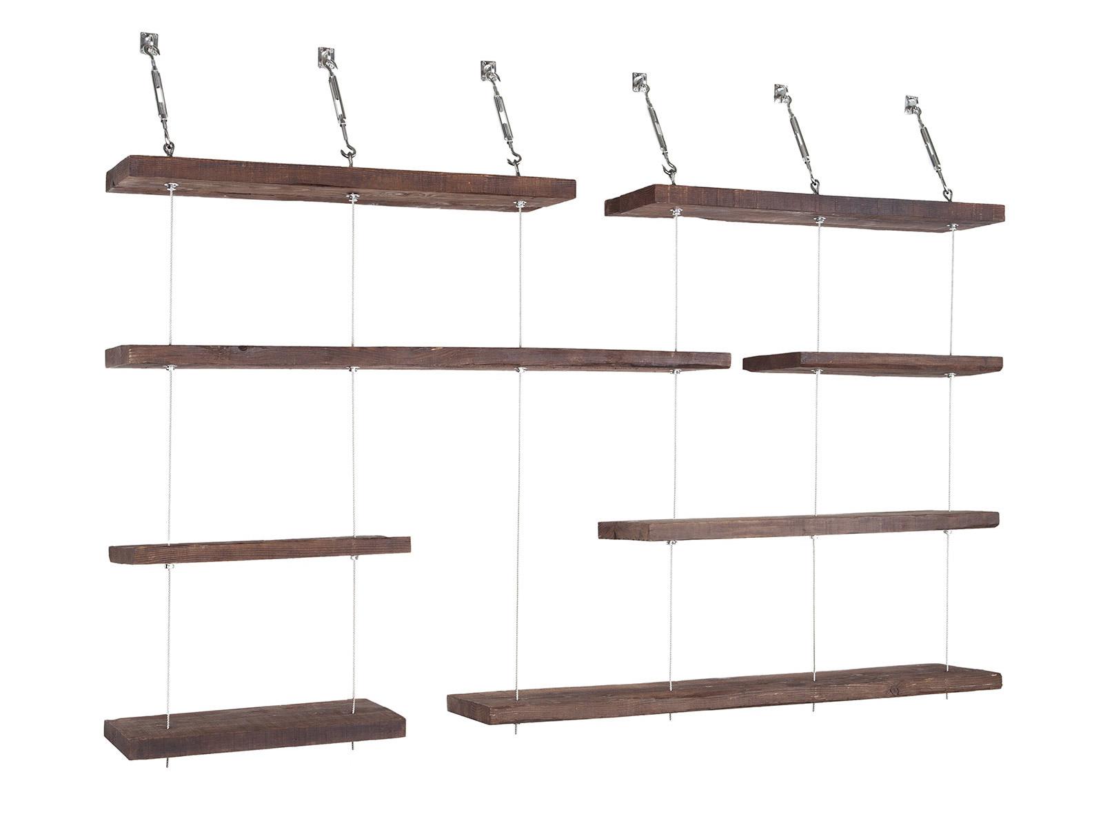 Turnbuckle Floating Shelves