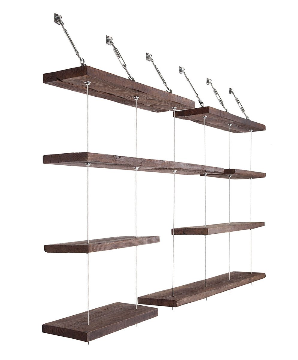 Turnbuckle Floating Shelves The Awesomer