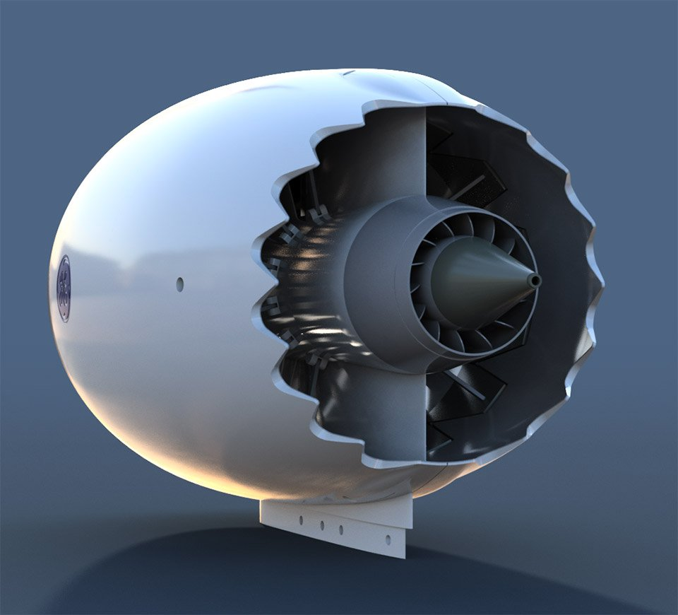 Working Jet Engine Model