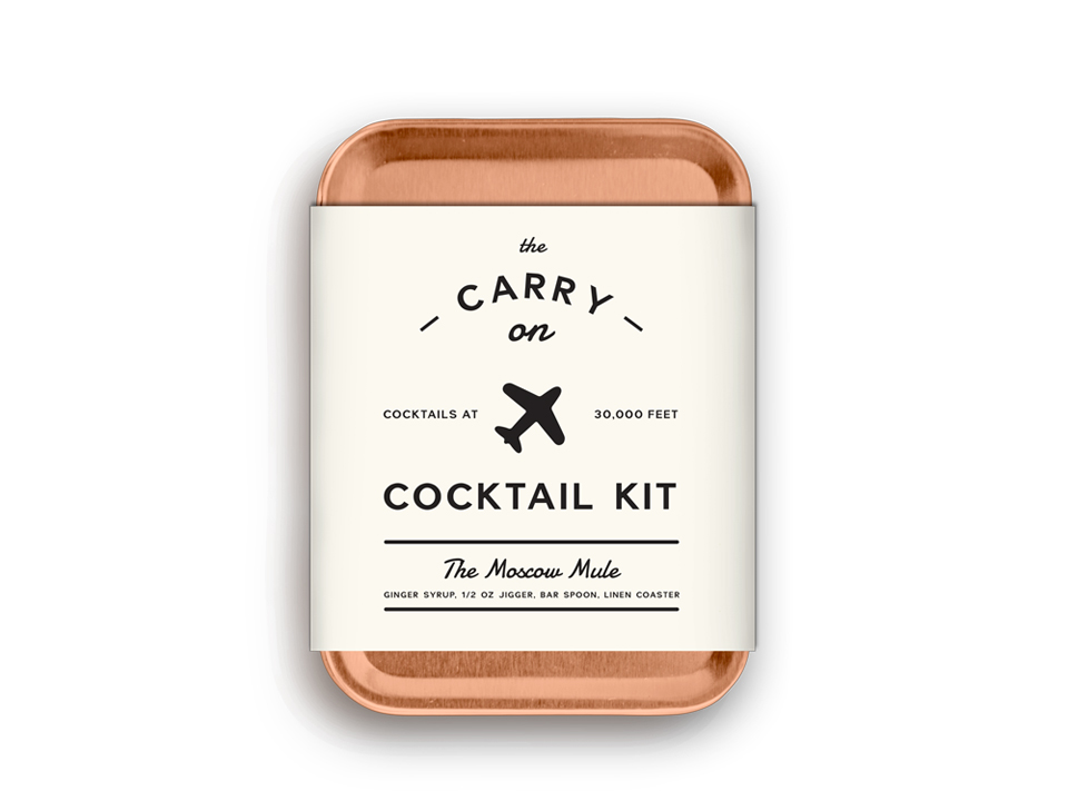 carry on cocktail kit the awesomer