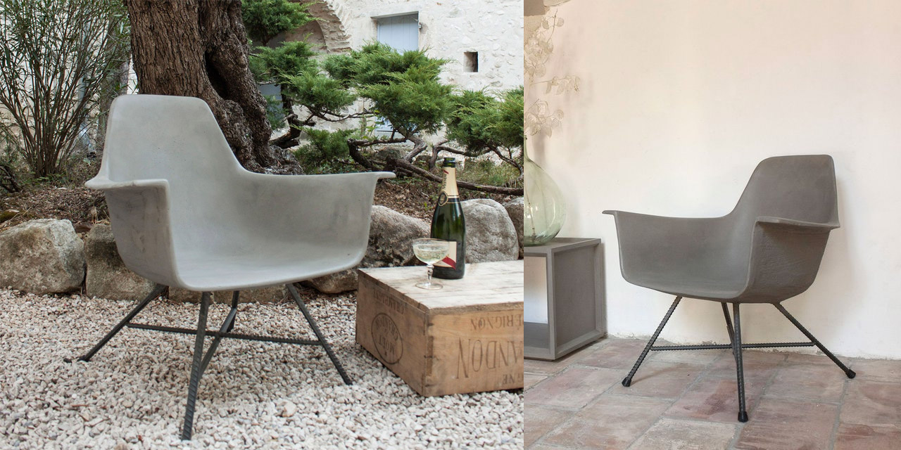 D'Hauteville Concrete Low Armchair