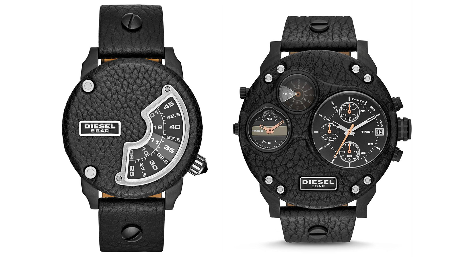 Diesel Leatherface Biker Watches