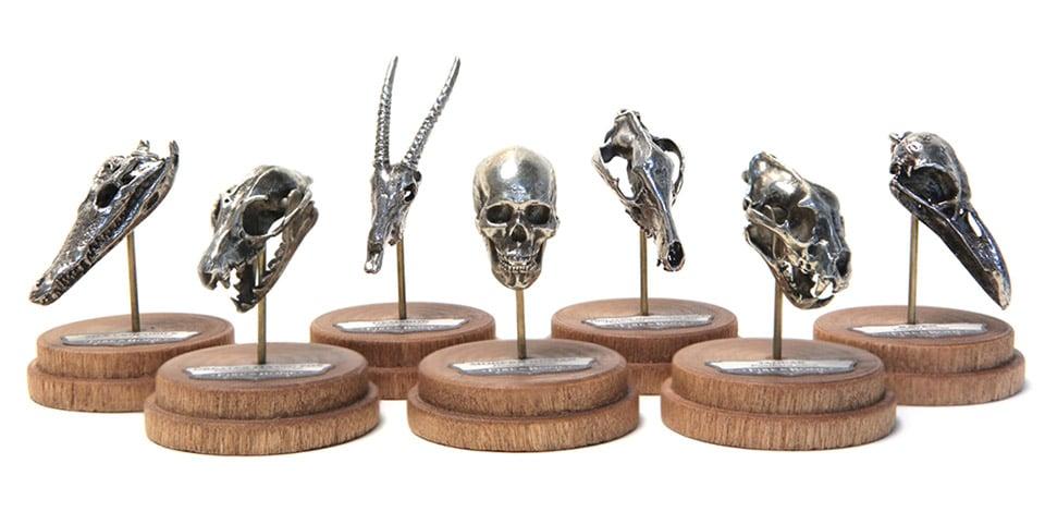 Fire & Bone Mini Metal Skulls