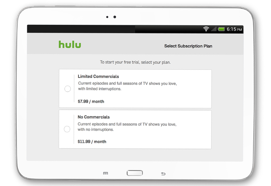 Hulu No Commercials Plan
