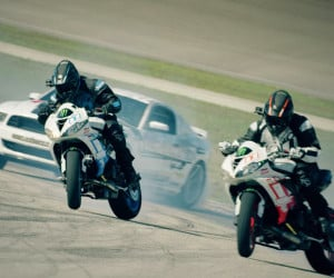 Motorcycle vs. Car Drift Battle 4