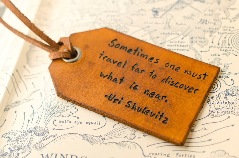 Printed Leather Luggage Tags