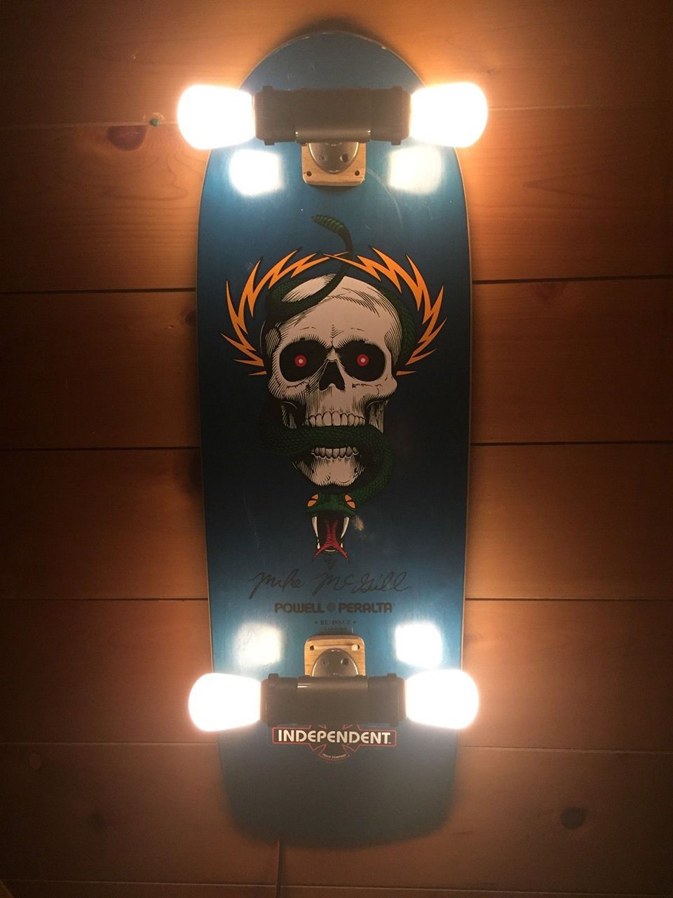 Led Lights For Cars >> Skateboard Wall Lights - The Awesomer