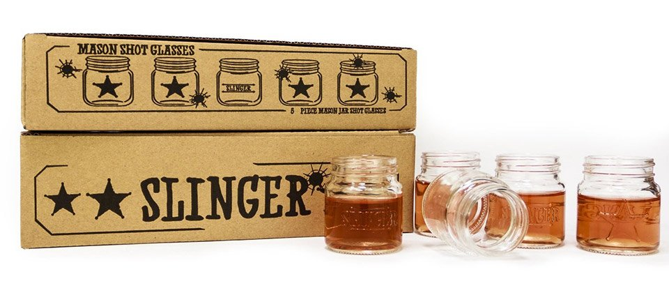 Slinger Mason Jar Shot Glasses