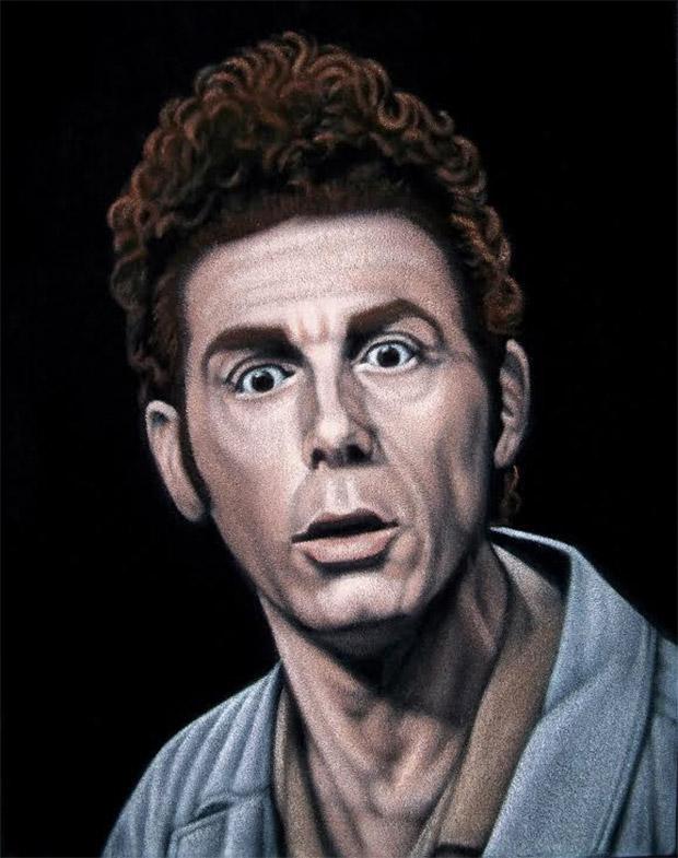 """""""Kramer"""" velvet painting by Bruce White"""