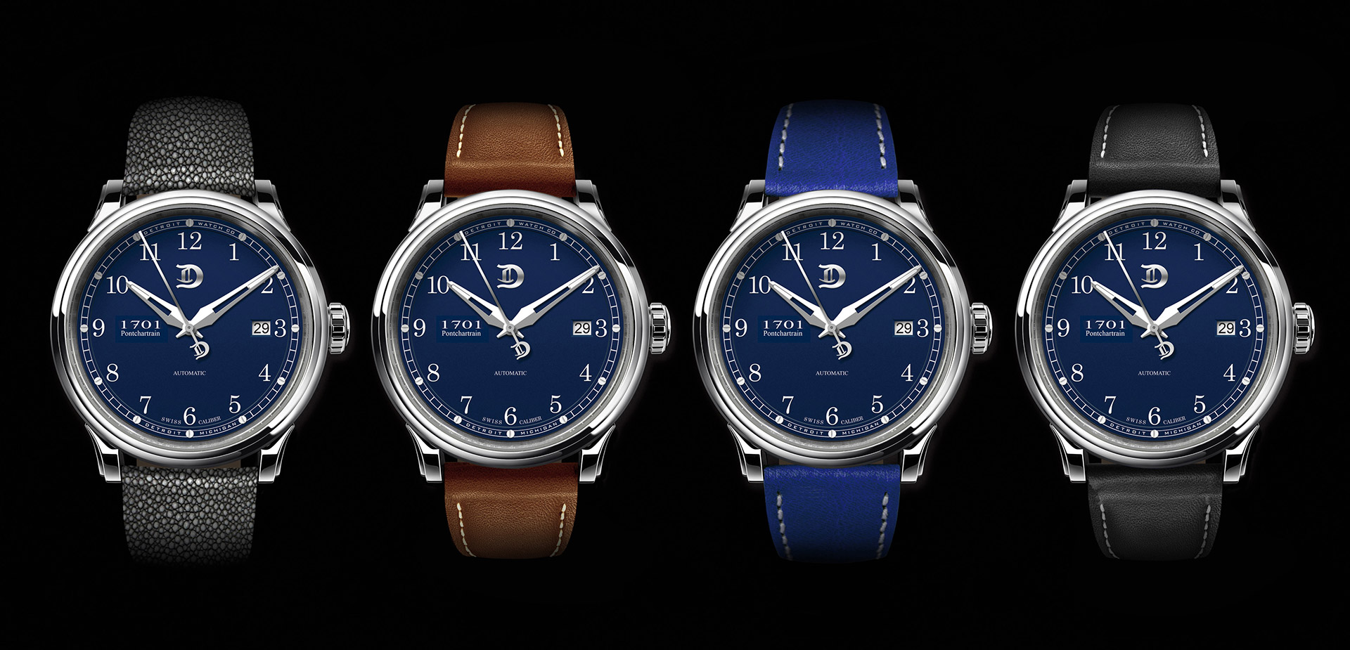 Detroit Watch Pontchartrain Blue