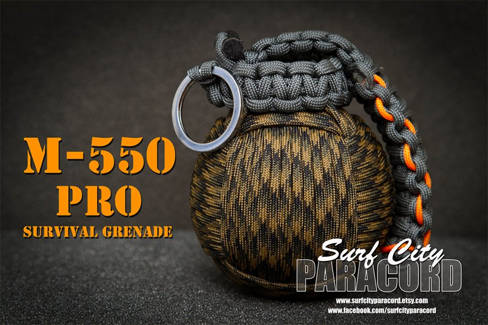 paracord survival grenade the awesomer