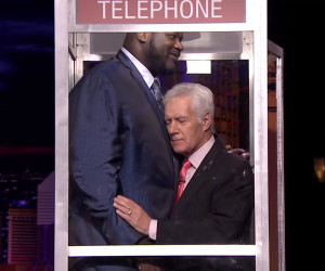 Phone Booth: Shaq vs. Jackman