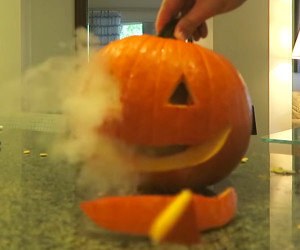 Self-Carving Pumpkin