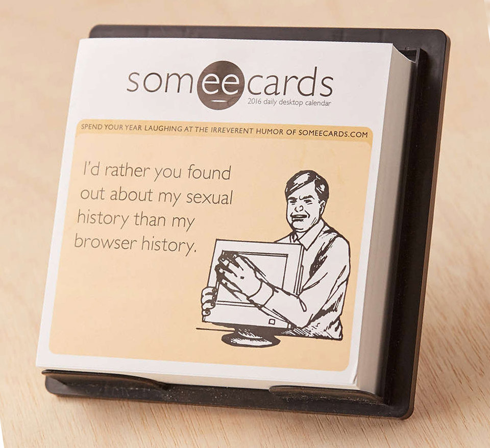 2016 someecards Desk Calendar