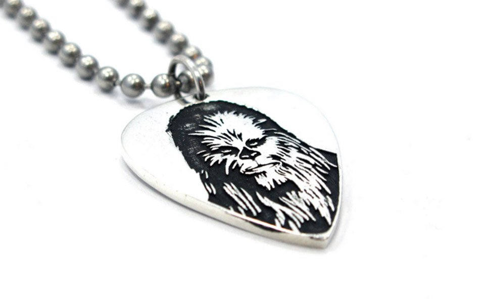 Chewbacca Guitar Pick Necklace