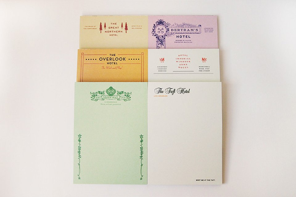Fictional Hotel Notepads