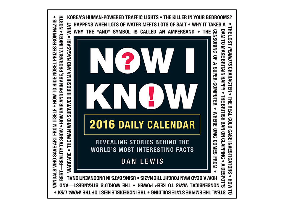 Now I Know 2016 Desk Calendar