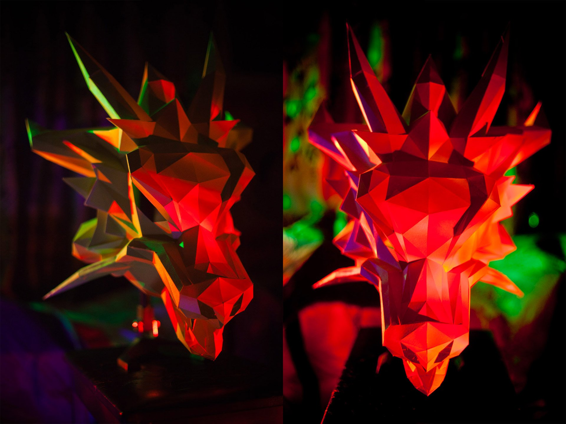 Paper Dragon Mask