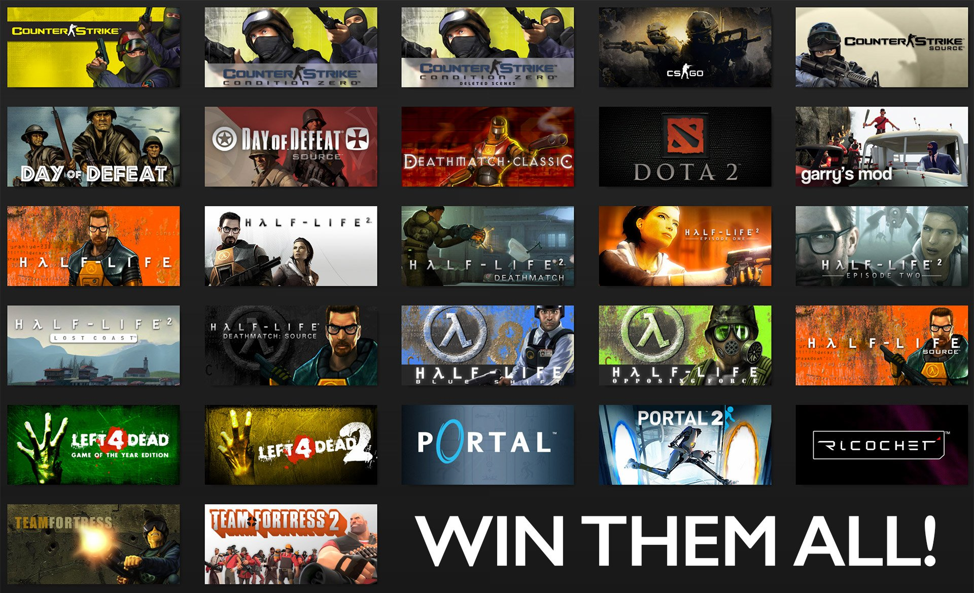 Win: VALVE Game Bundle