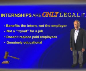 Most Unpaid Internships Are Illegal