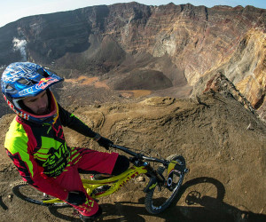 Biking Down a Volcano