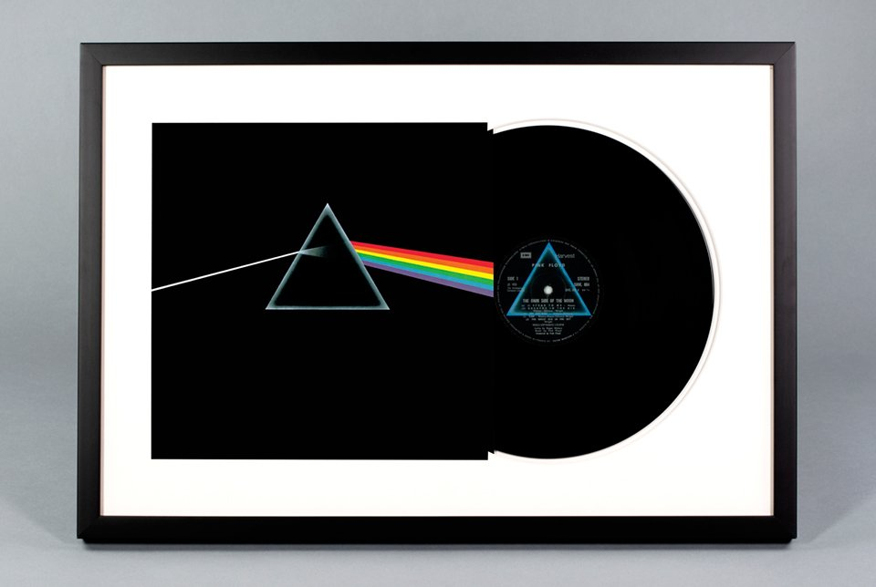 Framed Vinyl Records - The Awesomer