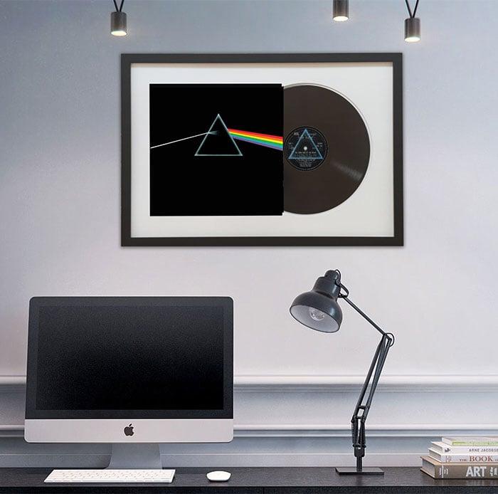 Framed Vinyl Records The Awesomer