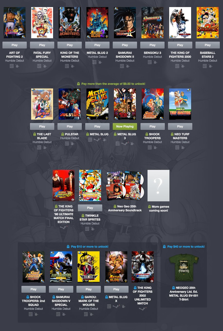Humble Neo Geo Bundle
