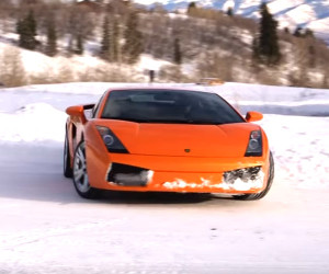 Lambo in the Snow