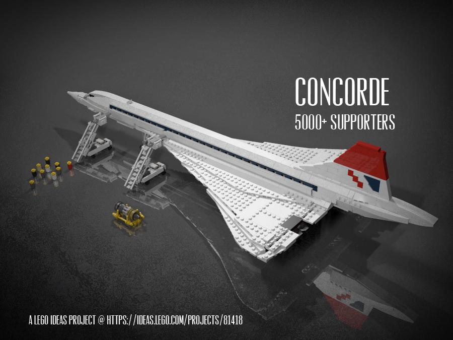 LEGO Concorde Concept - The Awesomer