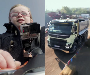 4 Year-Old Drives a Truck