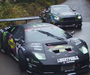 Mustang vs. Murcielago Drift Battle
