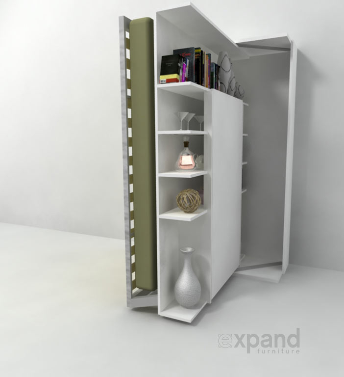 Revolving Bed & Bookshelf
