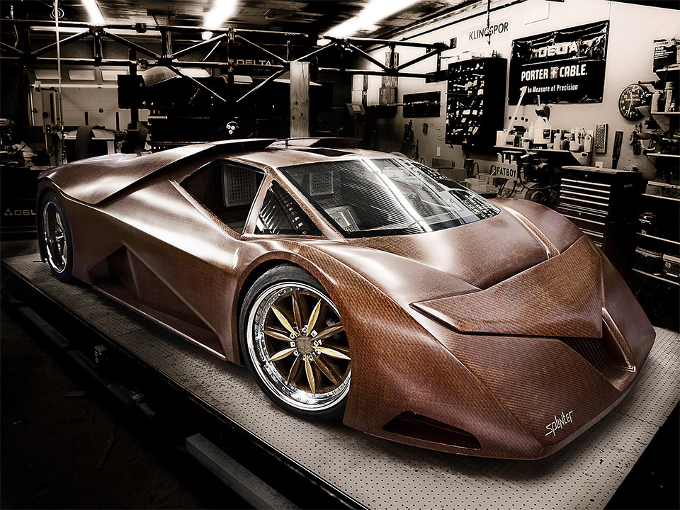 Splinter Wooden Supercar