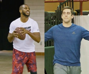 Chris Paul & Aaron Rodgers Trick Shots