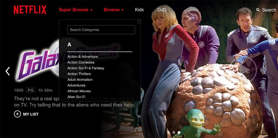 Netflix Super Browse