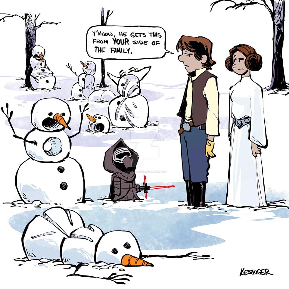 The Force Awakens x Calvin & Hobbes
