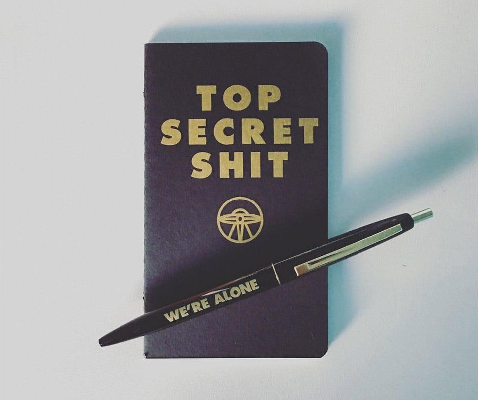 Top Secret Notebook & Pen
