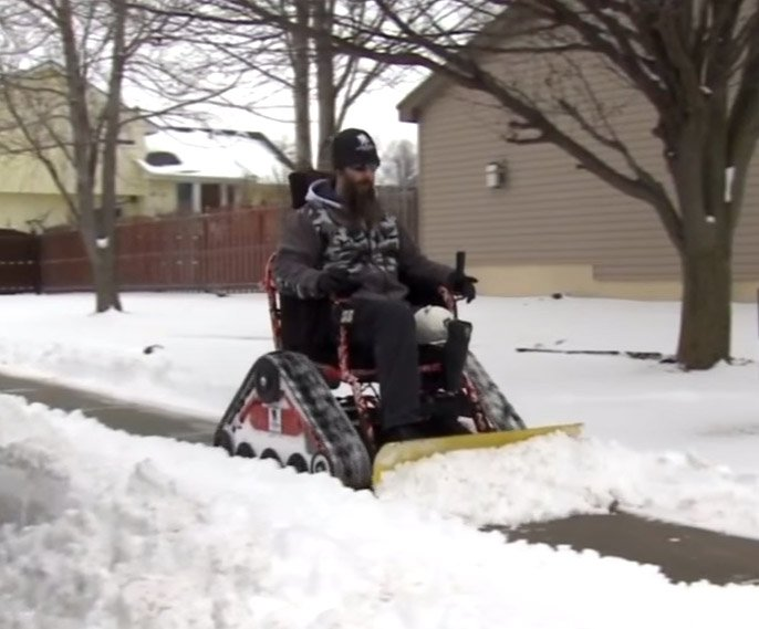 Wheelchair Snowplow